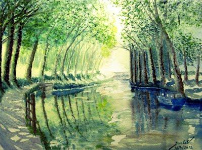 Paysages de printemps et d 39 t durcat artiste peintre for Artiste peintre narbonne