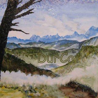 Vue sur les Drus et le Mont-Blanc